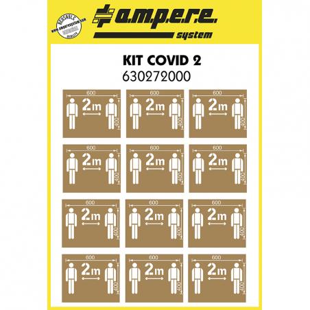 KIT COVID 2 – 12 Plantillas distancia seguridad 2 m